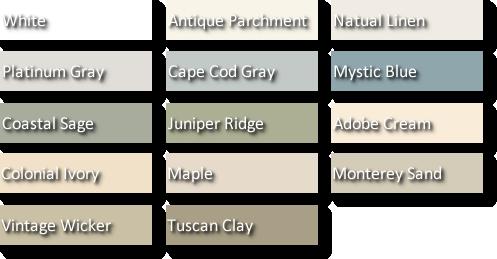 Vinyl Siding Colors Pictures Vinyl Siding Color Chart Vinyl Siding